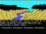 La Aventura Original MSX Valley surrounded by the forest.