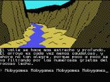 La Aventura Original MSX Deeper valley with vanishing stream.