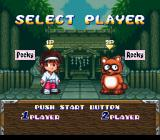 Pocky & Rocky SNES Character selection
