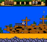 The Fantastic Adventures of Dizzy SEGA Master System Sunken ship