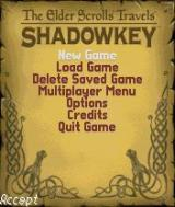 The Elder Scrolls Travels: Shadowkey N-Gage Main menu