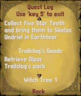 The Elder Scrolls Travels: Shadowkey N-Gage Quest log