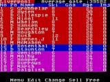2 Player Soccer Squad ZX Spectrum Squad list