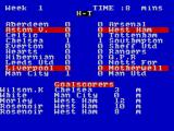 2 Player Soccer Squad ZX Spectrum Scores start to update