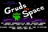 Gruds In Space Apple II Title screen