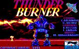 Thunder Burner Amstrad CPC Title Screen