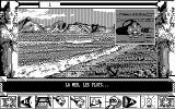 Chrono Quest II DOS First location - the beach (CGA)