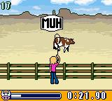 Wendy: Der Traum von Arizona Game Boy Color To get your cowboy hat, you have to show you're a real cowboy, er girl. Catch as many cows as you can with your lasso!