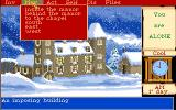 Mortville Manor Amiga Manor exterior and the movement menu