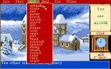 Mortville Manor Amiga Back of the Manor and the action menu