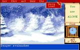 Mortville Manor Amiga Snow storm and the file management menu