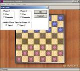 WinGenius Windows 3.x Starting a round of checkers