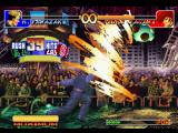 The King of Fighters '97 PlayStation Training Mode session with Ryuji Yamazaki, that's about to hit-finish his SDM Drill in Iori Yagami!