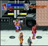 Super Double Dragon SNES The bad guys running away