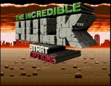 The Incredible Hulk SNES The Title Screen