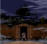 Super Castlevania IV SNES Starting his journey