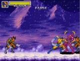 Marvel Super Heroes in War of the Gems SNES Wolverine versus evil clones
