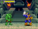 Marvel Super Heroes in War of the Gems SNES The Hulk versus Thanos