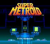 Super Metroid SNES Title screen.