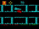 Zybex ZX Spectrum At the end of levels, you are picked up by your ship.