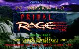 Primal Rage DOS Title Screen