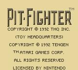 Pit-Fighter Game Boy Title Screen