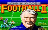 John Madden Football II DOS Title Screen