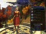 The Lord of the Rings Online: Shadows of Angmar Windows The character selection and creation screen lets you choose between your characters and create new ones