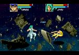 Yū Yū Hakusho: Makyō Tōitsusen Genesis Yusuki is kicked to the other side of the screen...