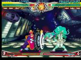 "Darkstalkers 3 PlayStation Aiming to stop Felicia's ""cat""-helper offensive, Lei-Lei (Hsien-Ko) performs her move Reflect Gong."