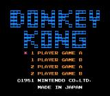 Donkey Kong NES Title screen