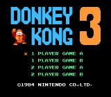 Donkey Kong 3 NES Title screen