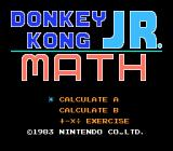 Donkey Kong Jr. Math NES Title screen