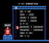 Donkey Kong Jr. Math NES +-x÷ Exercise, selection screen