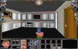Nitemare-3D Windows 3.x The levels contain various interesting places (here, a kitchen).