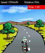 Xcite Bike J2ME The game's art is... special.