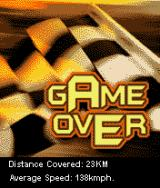 Xcite Bike J2ME Game over