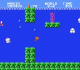 Super Mario Bros. NES Swimming with cheep-cheeps and a blooper
