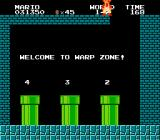 Super Mario Bros. NES A hidden warp zone