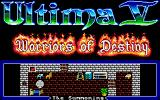 Ultima V: Warriors of Destiny Amiga The summoning