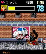Double Dragon EX J2ME Getting beat down in the first level