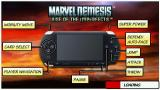 Marvel Nemesis: Rise of the Imperfects PSP Loading screen with an explanation of the controls