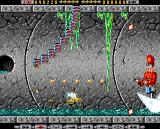 Apidya Amiga Scene 3 - Swinging centipede and shooting toy soldier