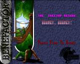 "Benefactor Amiga ""The Treetop Rescue"" level - loading screen"
