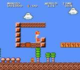 Super Mario Bros.: The Lost Levels NES Starting a new game.  Everything looks similar, but different.