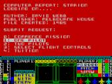 Starion ZX Spectrum Title screen with jargon