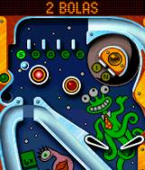 Space Taxi Pinball J2ME Top of the table with the bonus multipliers (SPACE)
