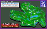 PGA Tour Golf DOS Splash screen of the Sawgrass course