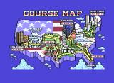 Turbo Out Run Commodore 64 The course map.