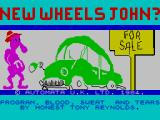 New Wheels John? ZX Spectrum Loading screen